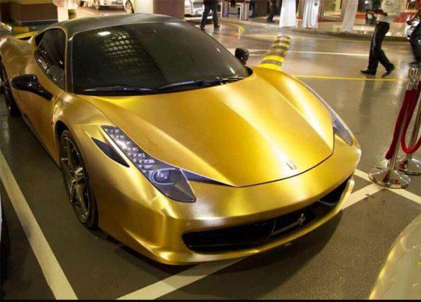 Gold Brushed Matte Chrome