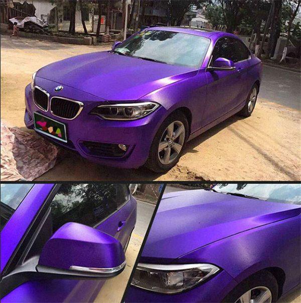 Purple Brushed Matte Chrome